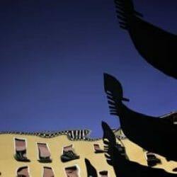 Gondola reflections Venice Italy photo tour Ron Rosenstock