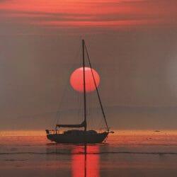 Sunset boat Vinalhaven photo tour Ron Rosenstock