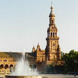 Fountain Seville Spain photo tour