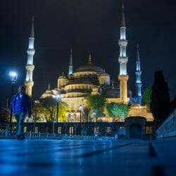 Istanbul mosque night Turkey photo tour David Tejada