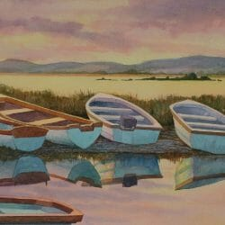 Ireland boats painting tour Becky Haletky