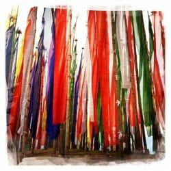 Bhutan photo tour prayer flags Karen Schulman