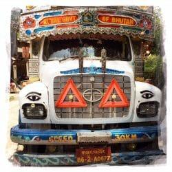 Bhutan bus photo tour Karen Schulman