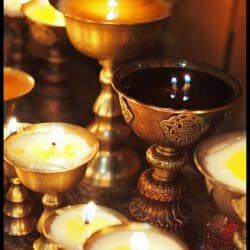 Butter Lamps Bhutan photo tour Karen Schulman