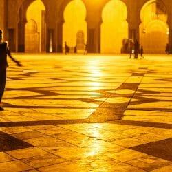 King Hassan II Mosque reflections Casablanca Morocco photo tour Ron Rosenstock