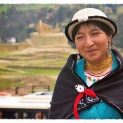 Cañari Woman at Ingapirca Ecuador photo tour Karen Schulman