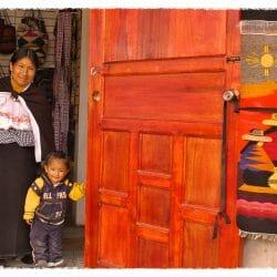 Otavalo Ecuador photo tour Karen Schulman woman and girl