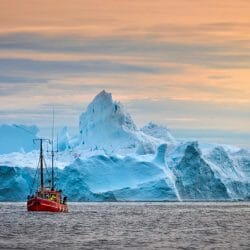 Greenland Iceberg boat