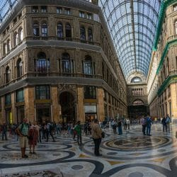Naples Italy architecture pano