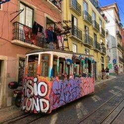 Lisbon cable car Portugal photo tour J Steedle
