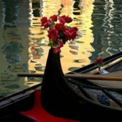 Venice Italy Gondolaa Roses Ron Rosenstock photo tour