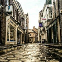 English town in rain photo tour