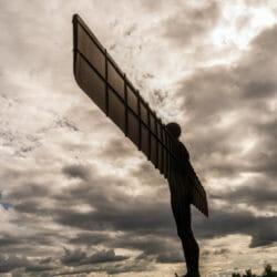 Northumberland statue Hadrians Wall UK Maureen Ferry
