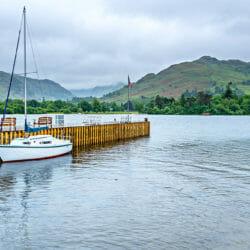 Ullswater Marina Sailboat photo tour Lake District England