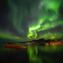 Aurora borealis Lofoten Norway Kathy Adams Clark