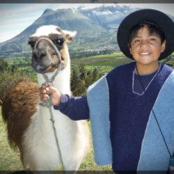 Ecuador boy Llama photo tour Karen Schulman