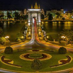 Budapest Hungary Chain Bridge Night pixabay