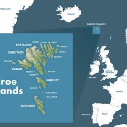 Faroe Islands map Denmark